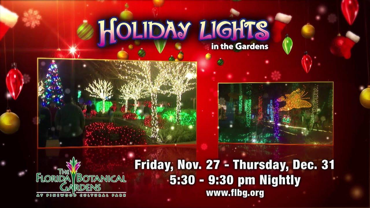 Holiday lights at florida botanical gardens youtube - Florida botanical gardens christmas lights ...