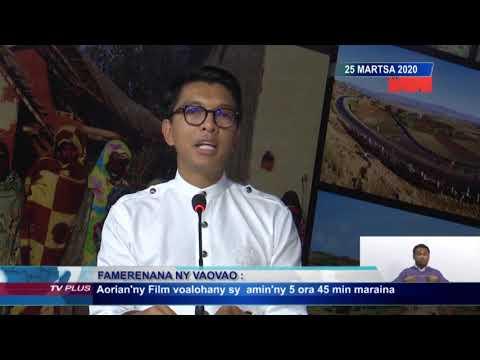 ÉDITION SPÉCIALE 10H00 DU 25 MARS 2020  BY TV PLUS MADAGASCAR