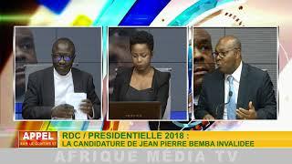 APPEL SUR LE  CONTINENT DU 04 09 2018: REFUS DE LA CANDIDATURE DE JEAN PIERRE BEMBA