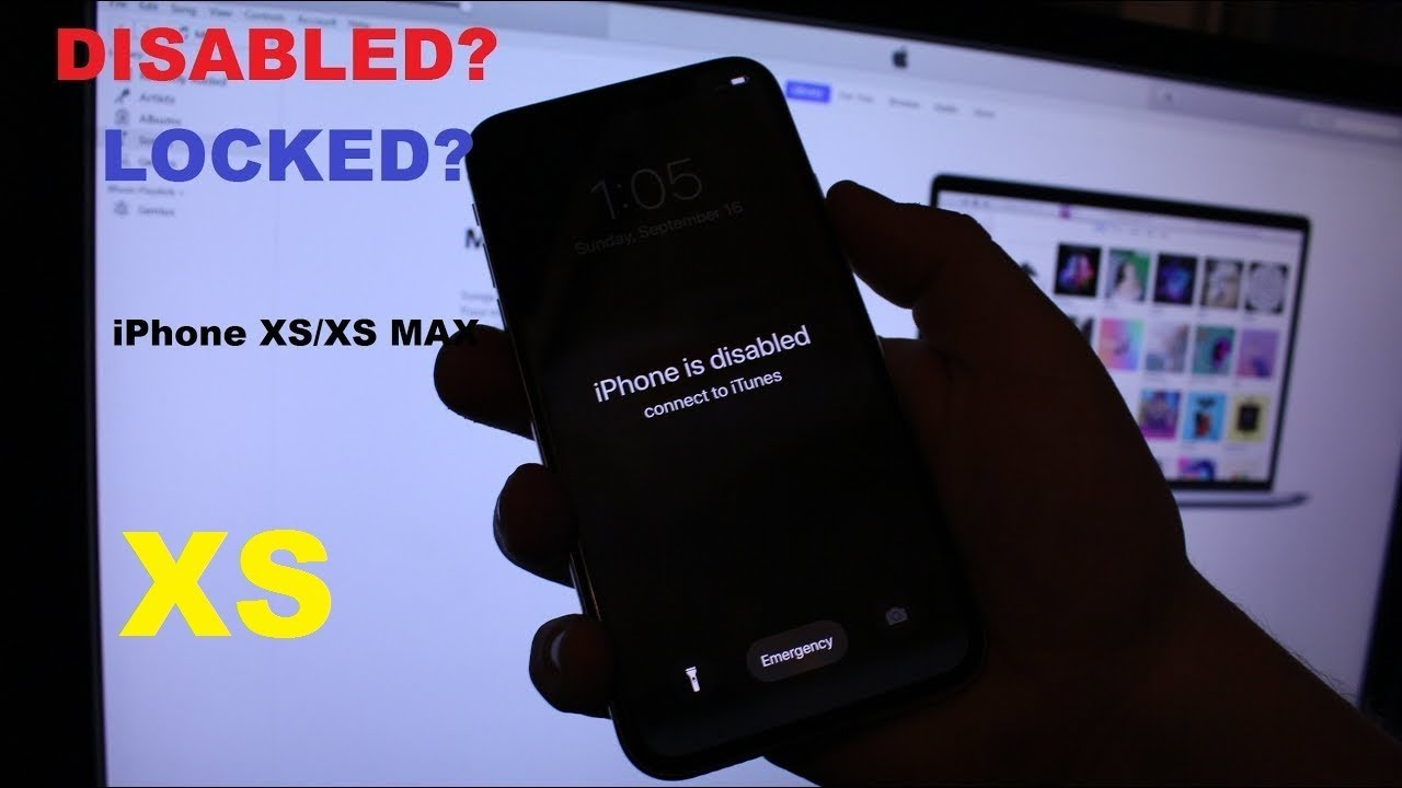 iPhone XS / iPhone XS Max How to Remove Forgotten Passcode , Disabled