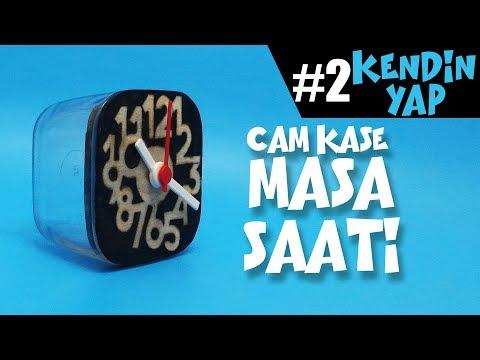 Cam Kase Masa Saati | Glass Bowl & Wood Table Clock | DIY/Kendin Yap Serisi #002