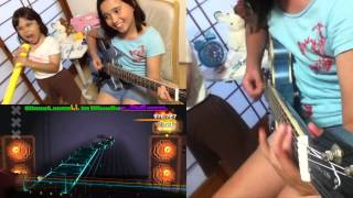 ROCKSMITH Audrey (10yrs old) Plays Guitar - War Ensemble - Slayer - 97% ロックスミス