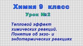 Химия 9 класс (Урок№2 - Тепловой эффект химических реакций. )