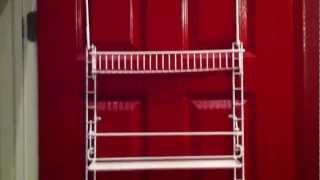 Pantry Organization Back Of Door Storage Rack Part 2