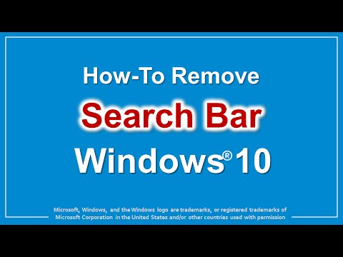 How to Remove Search Bar in Windows 10