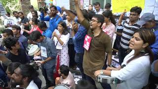 JNUSU  Election Day : Post-lunch Session Scene