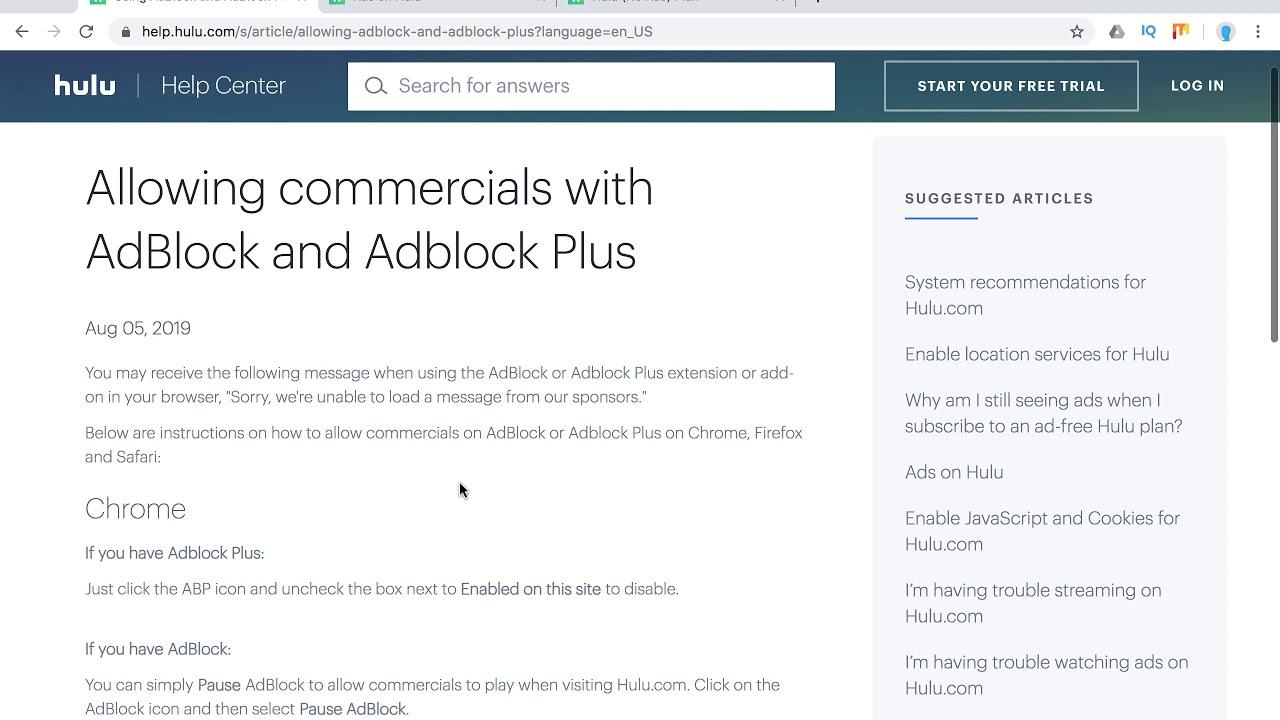 Hulu Adblock Guide Youtube