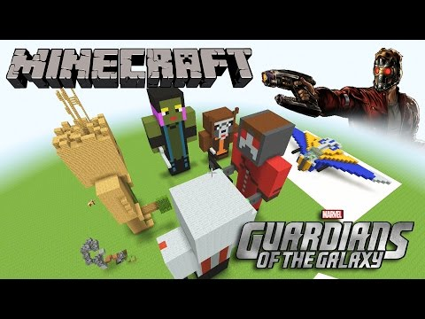 MINECRAFT: GUARDIANS OF THE GALAXY! Evan Builds The MILANO!