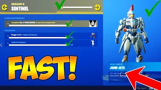 HOW TO UNLOCK MAX LEVEL SENTINEL SKIN in FORTNITE! (FASTEST WAY TO UNLOCK SENTINEL SKIN CHALLENGES)