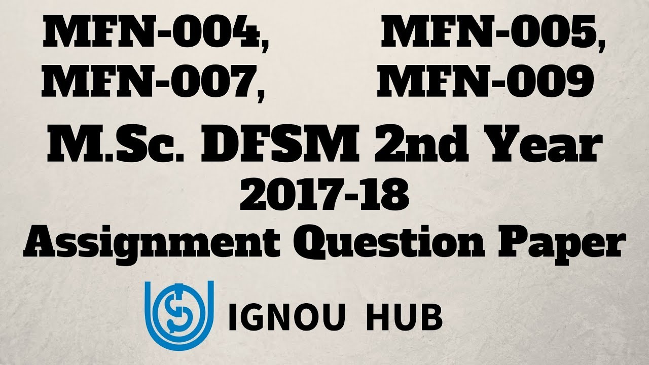 ignou msc dfsm thesis
