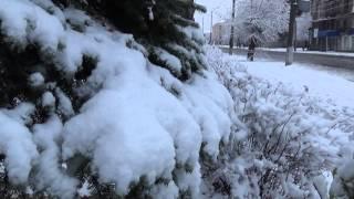Первый снег в Алчевске