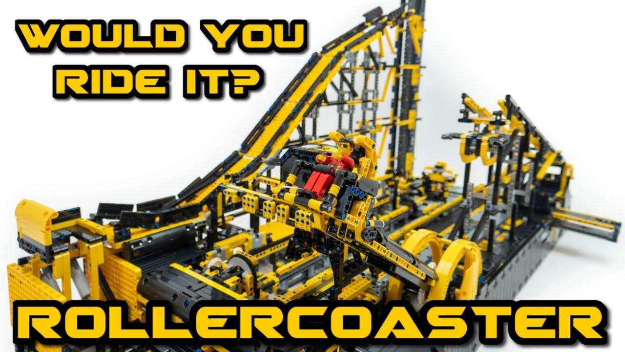 LEGO Technic Roller Coaster-ish Ride -- 17 motors -- With Gopro Shots