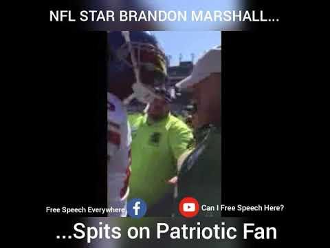 NFL Star Brandon Marshall Spits on Patriotic Fan Before Taking the Field (Disrespectful)
