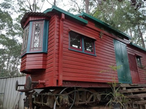 the Little Red Train Carriage ( minimalist living )