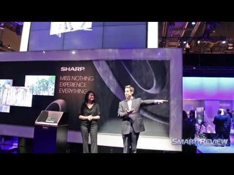 CES 2014 | Sharp HDTV and 4K TV Lineup | Quattron+ Revelation Technology | SQ15 LC-70SQ15U HD TV