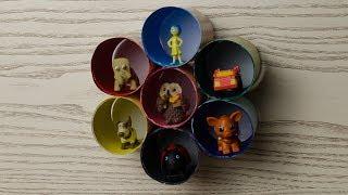 Как сделать подставку для игрушек из киндеров и коллекционных фигурок| DIY