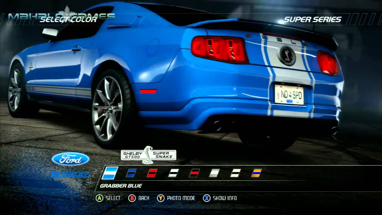 Need For Speed Hot Pursuit Cars Ford Shelby Gt500 Super