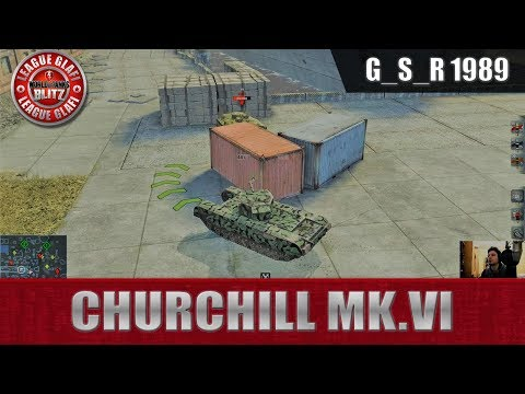 WoT Blitz -Ленивый премиум броневик Churchill Mk 6 - World of Tanks Blitz (WoTB)