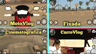 GTA SA Android Mod Pack de 📷CAMERAS (MotoVlog, Fixada, CarroVlog e Cinematográfica) + TUTORIAL