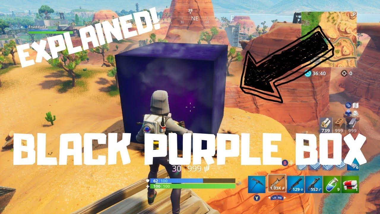 new black box in fortnite lightning live event explained - fortnite black cube