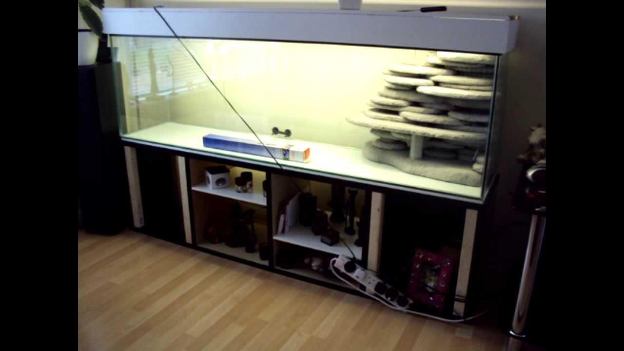 3d Background Diy Fish Tank Aquarium Youtube