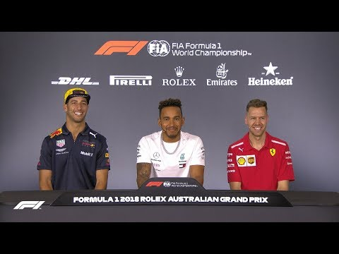2018 Australian Grand Prix: Pre-Race Press Conference