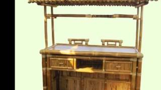 Afford A Bar-tropical Bamboo-tiki Bar(8'.hx5.1/2'.lx3.5.w)-buy Tiki Hut/bars For Business/home,sale