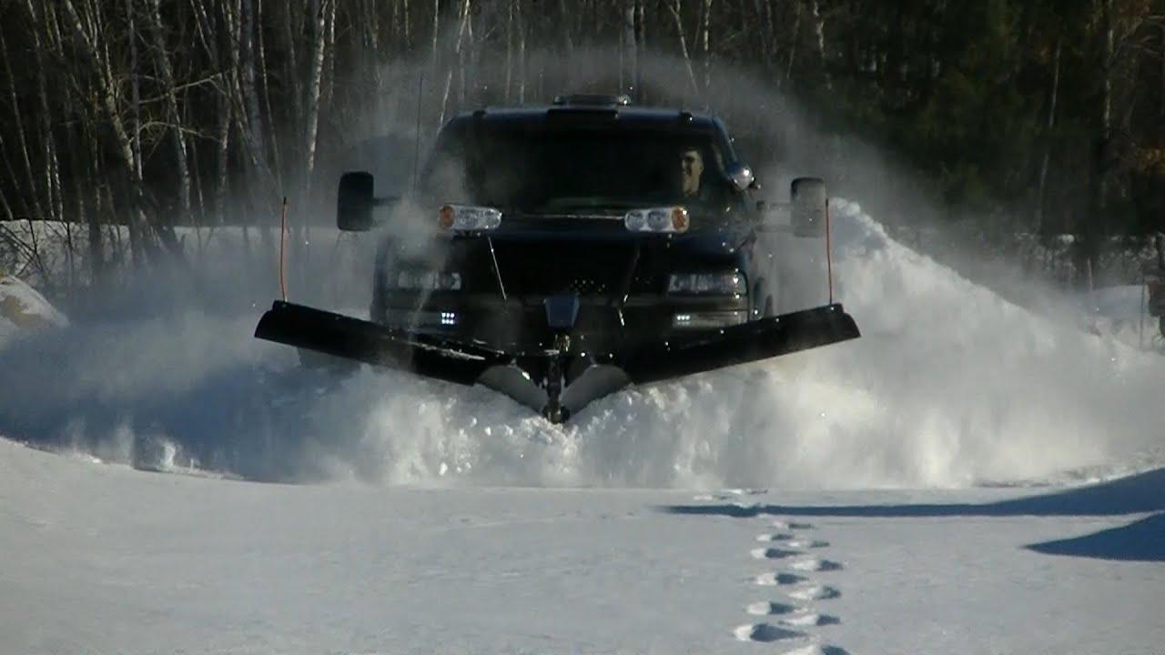 Snow Plowing 02 Silverado with Snowdogg VXF95 04 Silverado ...