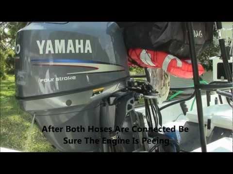 Flushing Yamaha Outboard Boat Engine