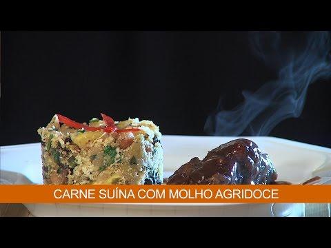 CARNE SUÍNA COM MOLHO AGRIDOCE