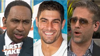 Jimmy G to the Super Bowl reignites Stephen A. & Max's ongoing Patriots debate | First Take