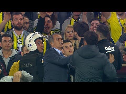 Fenerbahçe - Beşiktaş derbisinde gergin anlar - 19 Nisan 2018