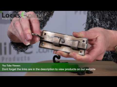 Black Antique and Pewter Decorative Bolts and Hooks   LocksOnline Product review