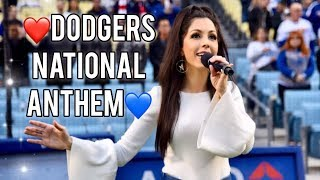 Dodgers National Anthem (Dodgers vs Nationals) - Roxy Darr