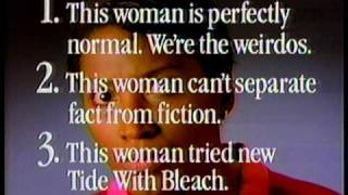 Tide With Bleach Commercial (1989)