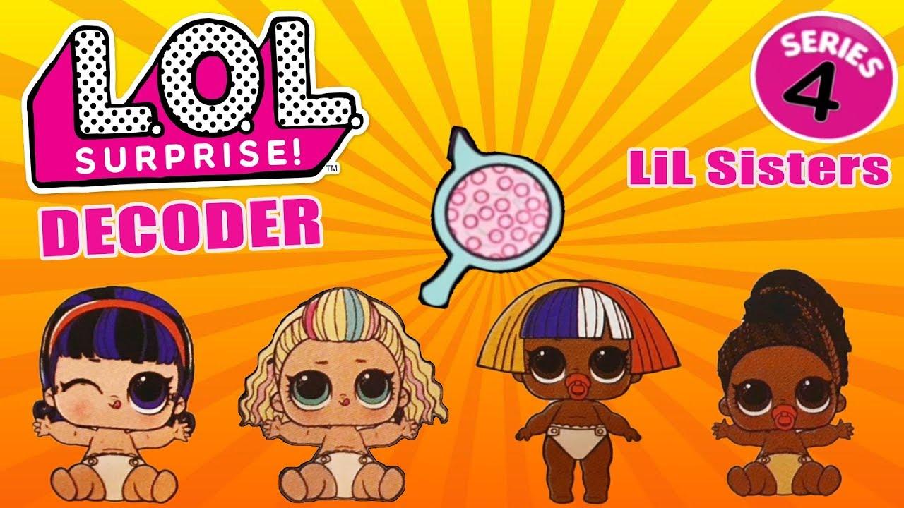 Куклы ЛОЛ 4 серии Декодер Маленькие сестрички | LOL ...