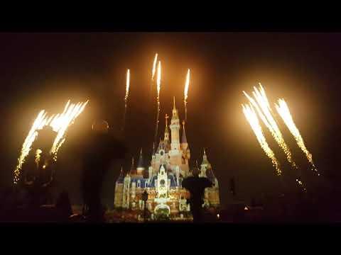 상하이 디즈니랜드 불꽃놀이 20분 풀 영상(Shanghai Disney Resort fireworks full video(20min))
