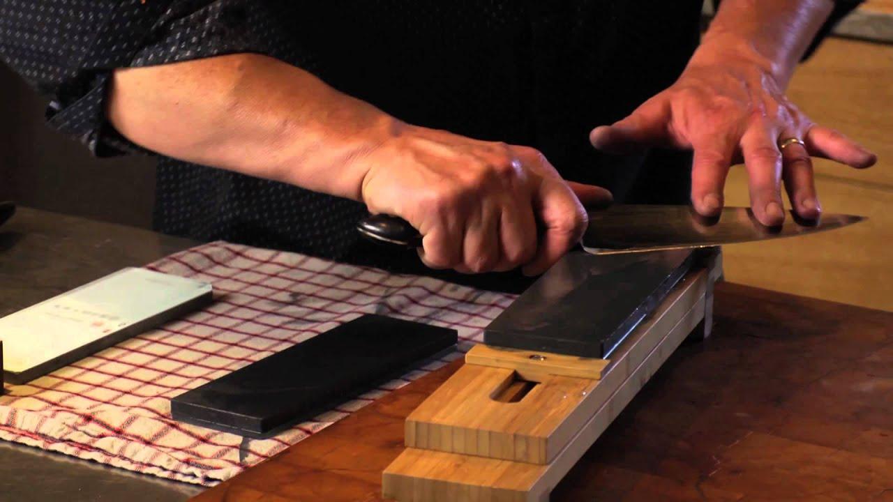 sharpening with bob kramer youtube. Black Bedroom Furniture Sets. Home Design Ideas
