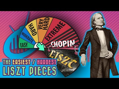 The Easiest Liszt Pieces (and the most Difficult)