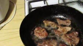 жареное мясо в соевом соусе