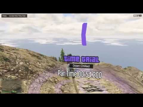 GTA V Online PS4 Time Trial #110 - Down Chiliad
