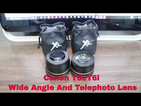 Canon T5i and T6i Wide Angle and Telephoto lens