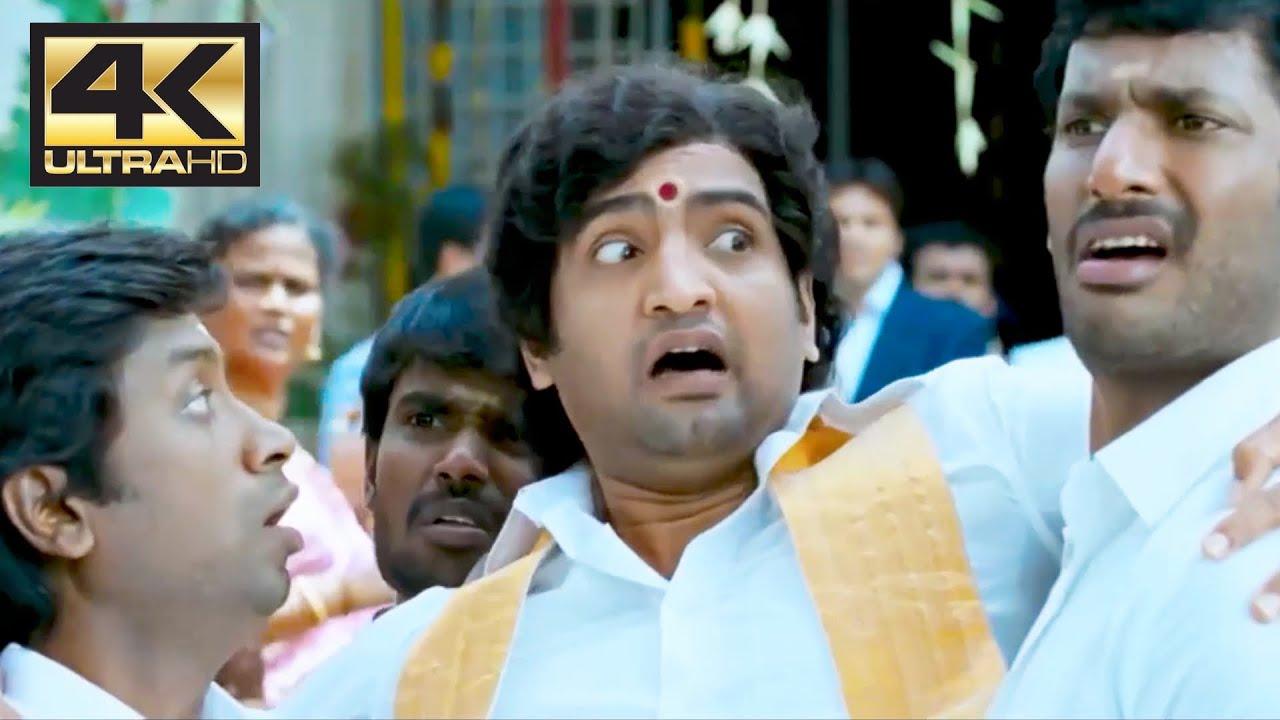 Download Santhanam Comedy scene | Pattathu Yaanai | 4K (English Subtitle)