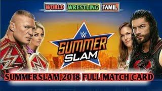 WWE SummerSlam 2018 Match Card/World Wrestling Tamil