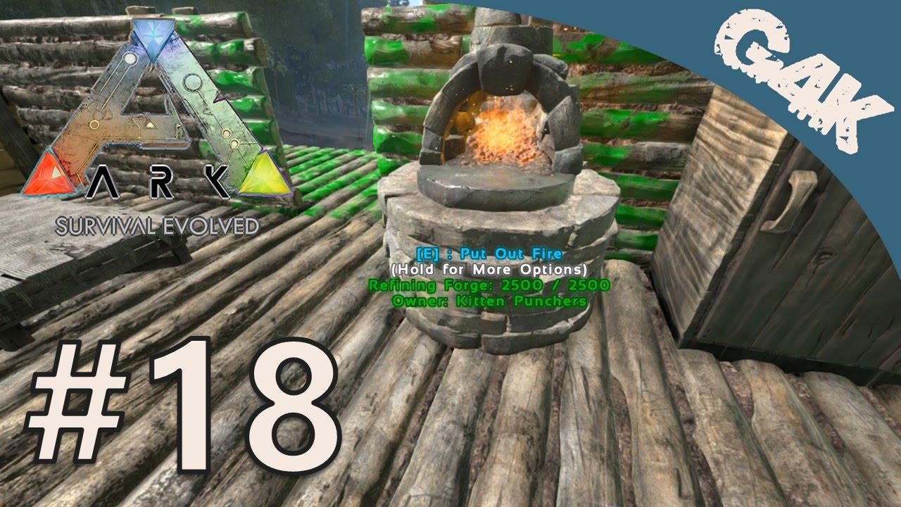ark survival evolved gameplay multiplayer part 18 refining forge youtube. Black Bedroom Furniture Sets. Home Design Ideas