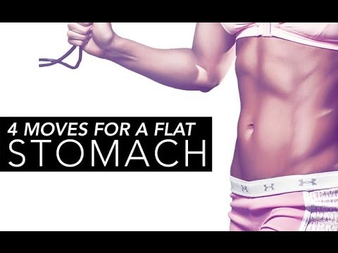 FLAT BELLY Workout (4 Best Ab Exercises For a FLATTER STOMACH!!)