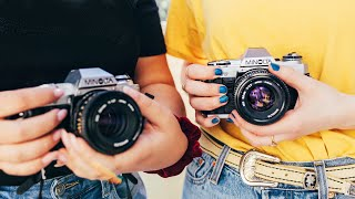 Film Photography For Beginners   how to use the camera, settings, load, choose film, and more!