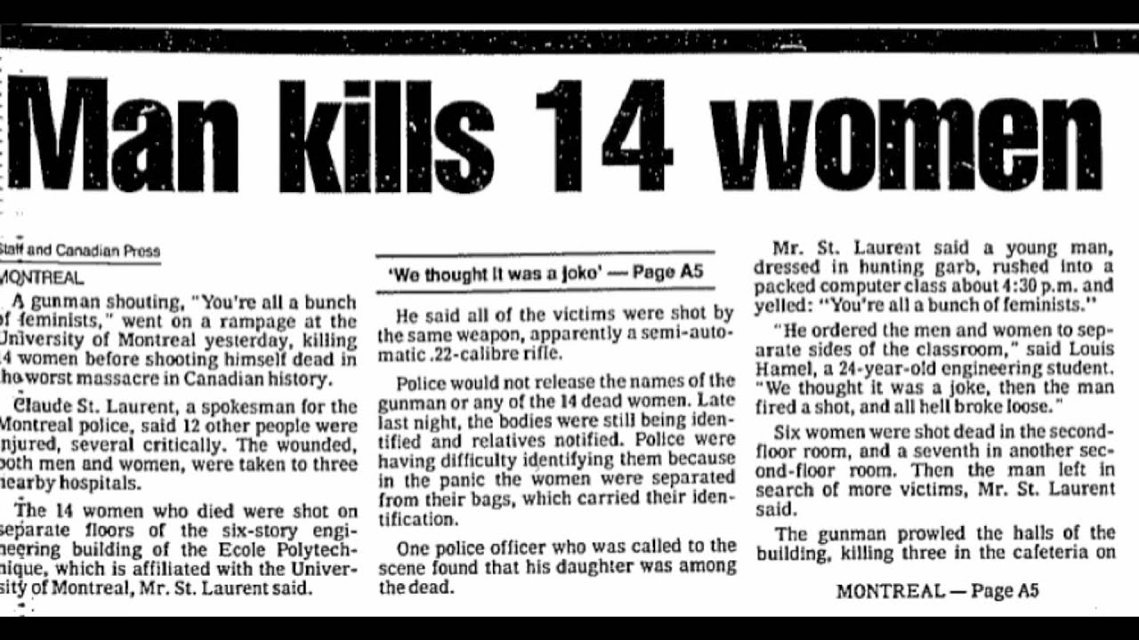 the montreal massacre in 1989 6, 1989, massacre at école polytechnique in montreal  of our coverage of the  25th anniversary of the polytechnique massacre, the montreal.