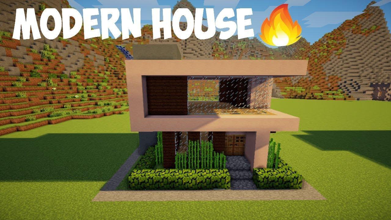 Minecraft Tutorial Cara Membuat Rumah Modern 6 Youtube