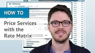 How To Price Services With The Rate Matrix